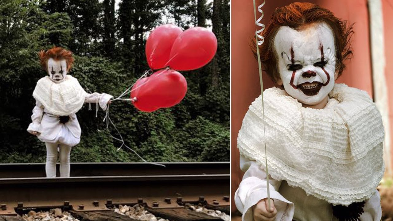 3 year old dressed as pennywise the clown from it may give you nightmares