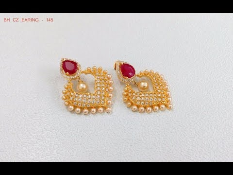 EPISODE=388 South Indian Pearl Earring Designs
