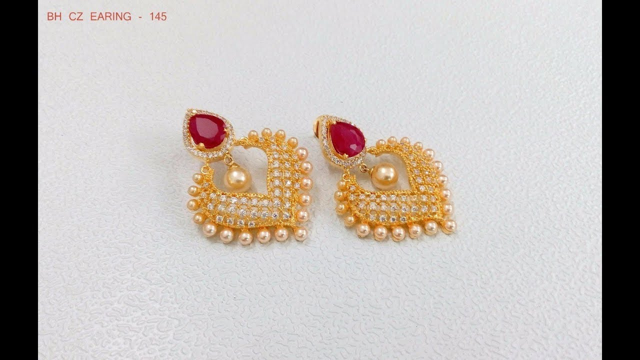 Latest South Indian Pearl Earring Designs - YouTube