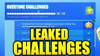 ALL OVERTIME CHALLENGES LEAKED! HOW TO COMPLETE ALL OVERTIME CHALLENGES EASY GUIDE FREE BATTLE PASS!