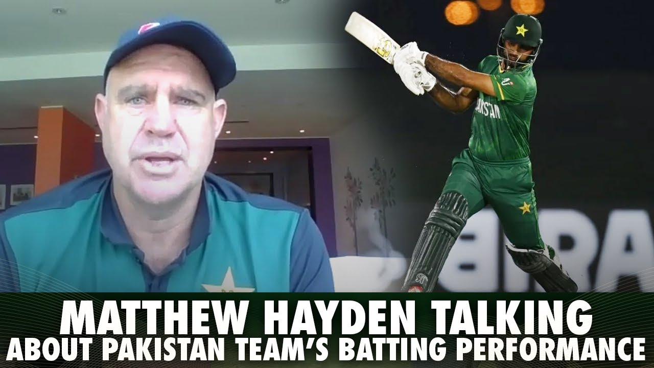 Matthew Hayden Talking About Pakistan Teams Batting Performance Pakistan vs India   T20 World Cup