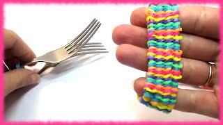 Как плести браслеты из резинок на вилке(, 2015-06-13T14:22:38.000Z)