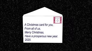A card for both business and family  Christmas cards. add on.