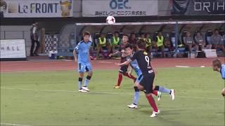 鈴木 優磨(鹿島)が右後方からのクロスを頭で叩き込み、鹿島が試合終盤...