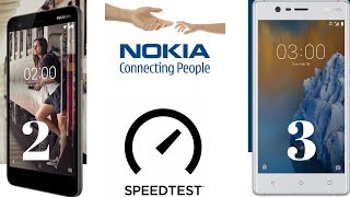 Nokia 3 VS Nokia 2 - Speedtest & Comparison - Now 2 Is Greater Than 3 ⚡ (in Hindi)