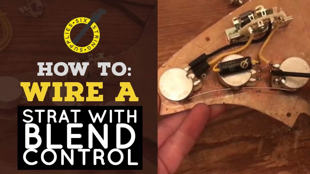 Wiring A Strat With Blend Control Youtube Fender Stratocaster 5way Kit Crl Switch Cts Pots