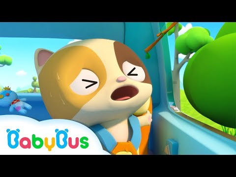 Baby Kitten is Hurt by Branch | Car Safety Tips for Kids | Kids Song Collection | BabyBus