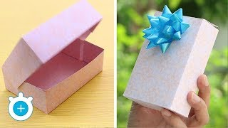 How to make a paper gift box with lid - Easy!