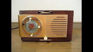 GENERAL ELECTRIC Tube Clock Radio Model  522F  真空管ラジオ  「コニー・フランシス バケ―ション Vacation」を聴いてみました。