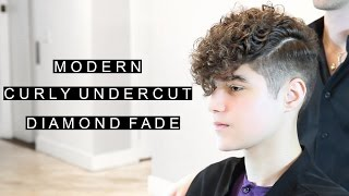 Modern Curly Undercut | Diamond Fade | Unique Men's Hairstyle | CSC