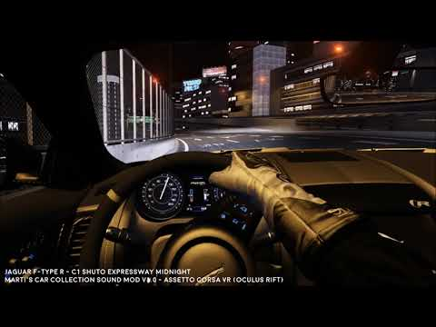 Jaguar F-Type R V8 Pop Crackle Exhaust Sounds - Assetto Corsa VR Sound Mod  Test