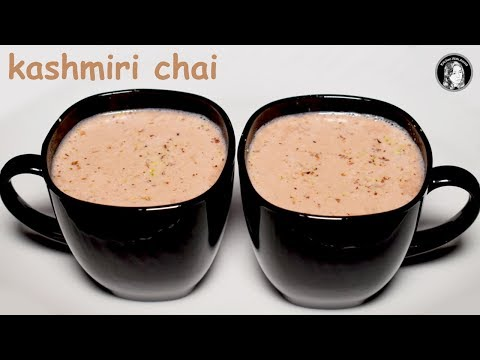 Kashmiri Chai Recipe - How To Make Pink Tea - Gulabi Chai Recipe By Kitchen With Amna