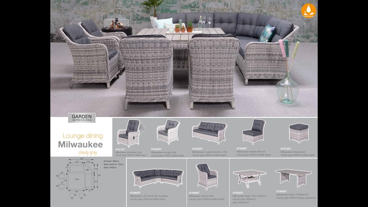 garden impressions milwaukee lounge dining youtube. Black Bedroom Furniture Sets. Home Design Ideas