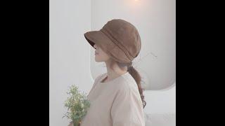[애지중지상점] 오리챙 중년 여성 모자 면 창모자 벙거…
