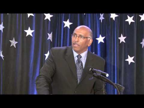 American Politician and Political Analyst, Michael Steele addresses PM New Year's Gala