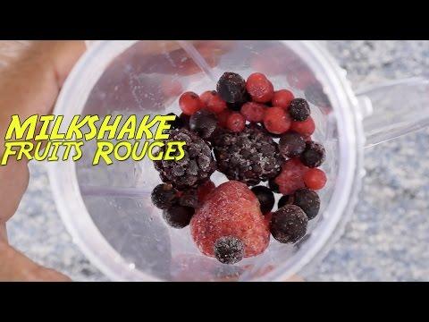 Milkshake Fruits Rouges Très Frais Très Rapide Youtube