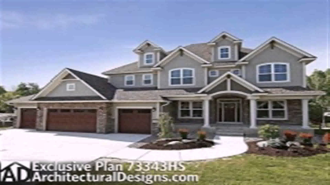 Floor plans with 5 car garage youtube for 8 car garage house plans