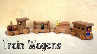 How To Make Wooden Toy Train Wagons | Wooden Miniature   Wooden Creations