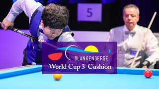 3-CUSHION Word Cup Blankenberge 2018 - Last 8 Dick jaspers vs Cho M.W
