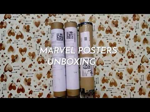 Marvel Posters Unboxing & Placing on wall - Civil War, Doctor Strange & Deadpool