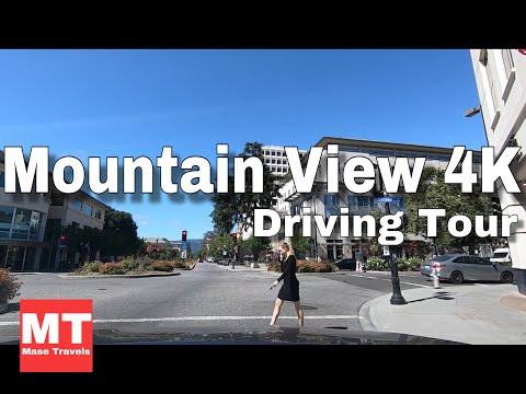 Mountain View Downtown California - Silicon Valley Drive USA 🏆