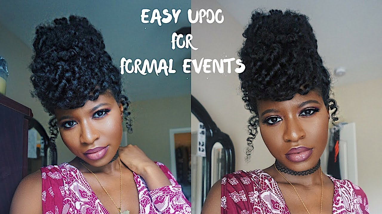 Easy Wedding Guest Updo Natural Hair Ft Weddingdigestnaija Youtube