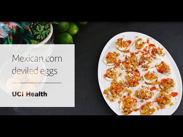 Mexican corn deviled eggs