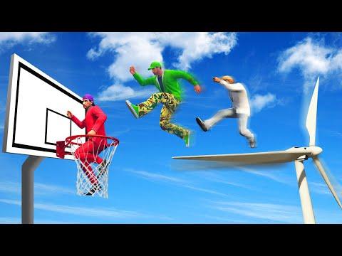 HUMAN BASKETBALL CHALLENGE! (GTA 5 Funny Moments)