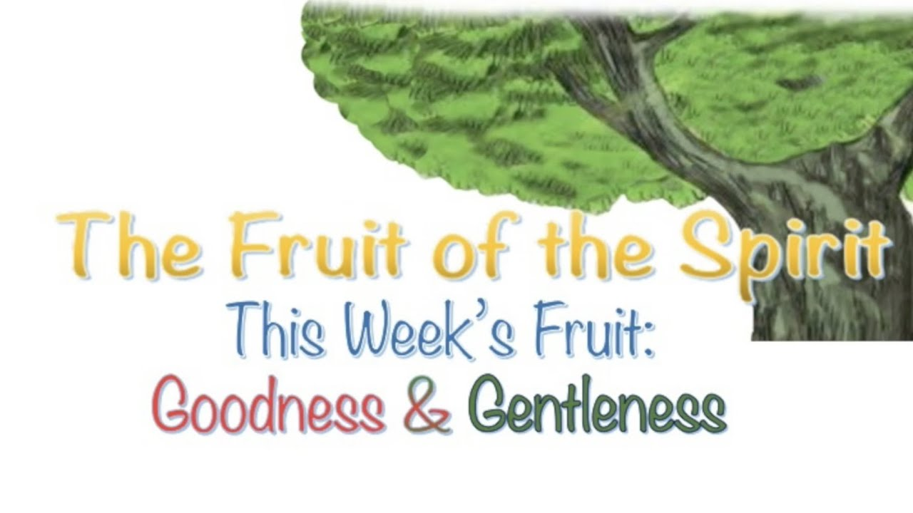 FRUIT OF THE SPIRIT: Goodness + Gentleness