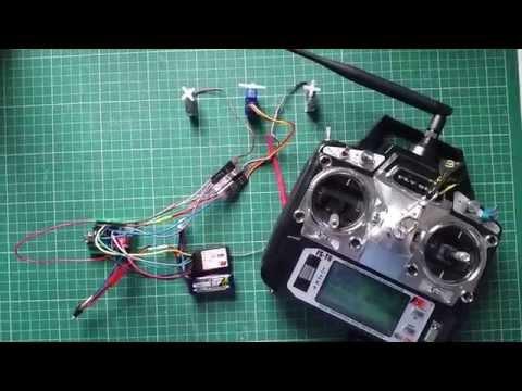 Part 2 - Testing Servos - RC Hexapod Walker 3 servo simple with Flysky  FS-T6 & Arduino Nano