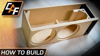 Building A Subwoofer Enclosure - Step By Step - Caraudiofabrication