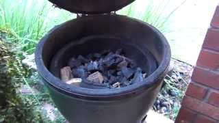 Big Green Egg Smoking Setup (www.flamingroosterbbq.com)