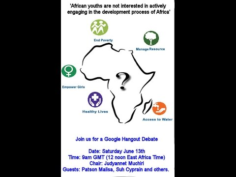 'African youths are not interested in actively engaging in the development process of Africa'