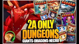 2A MONSTERS ONLY!!! (Summoners War: Dungeons Challenge - Dragons/Giants/Necro)
