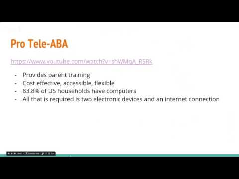 SPCE 619: Tele Therapy - In home vs Tele ABA