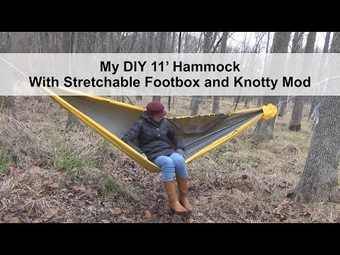 jellyfish report  diy hammock with stretchable footbox and knotty mod  rh   jellyfishreport blogspot