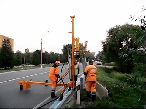 Видео Дорожного ограждения барьерного типа 350 кдж