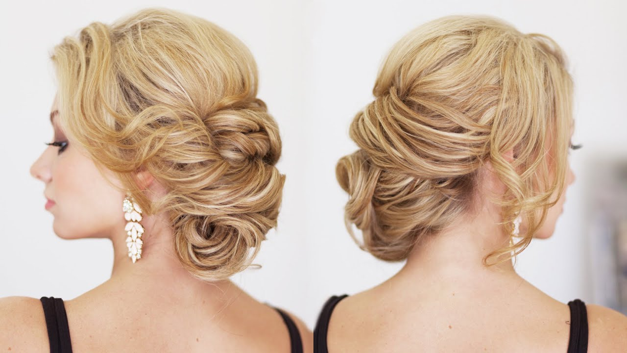 Texturized Hair Styles: Easy Side Textured Bun Hairstyles Updos