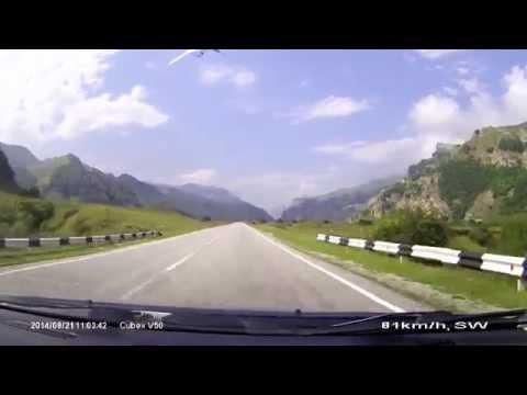 Нальчик - Эльбрус (Приэльбрусье). Путешествие в горы на авто. Road To Mountain Elbrus. 2014. A158