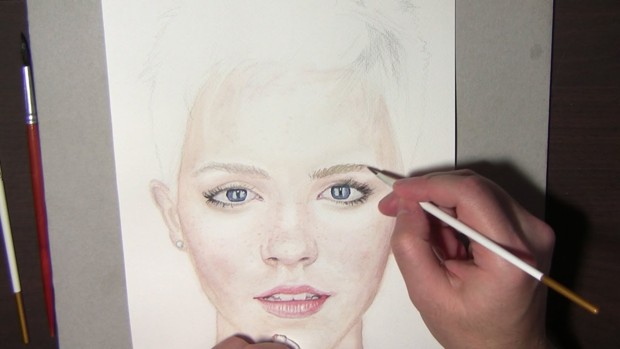 Watercolor portrait tutorial how to steps and tips emma for Portrait painting tutorial