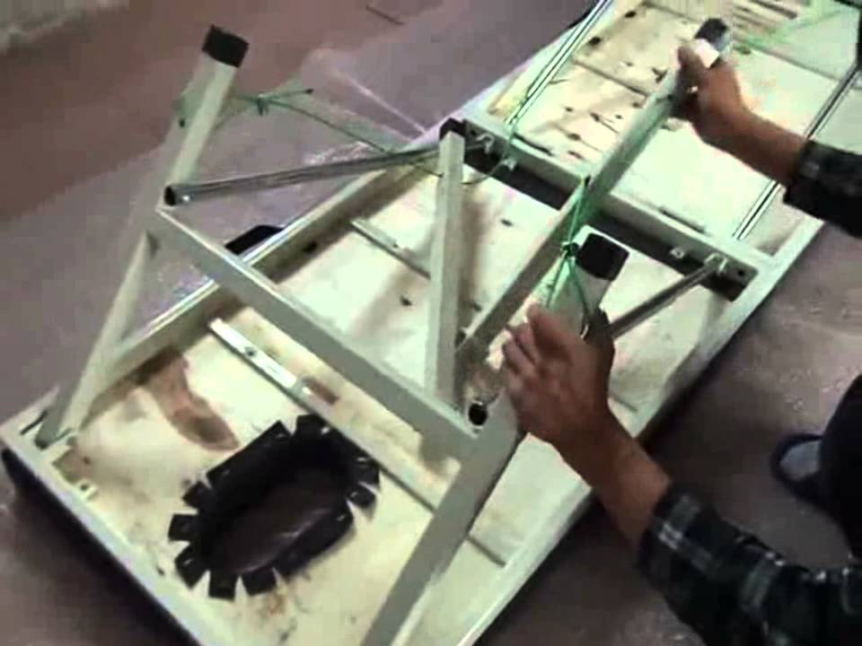 方管折疊按摩床(診療床 醫療床 美容床) - YouTube