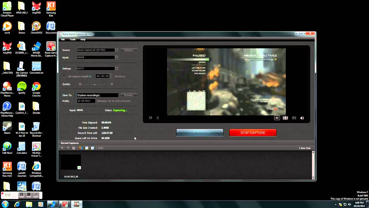 roxio game capture hd pro setup