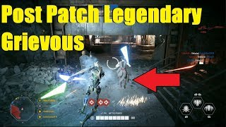 Star Wars Battlefront 2 - Post Patch General Grievous! Shattered armor Legendary appearance!