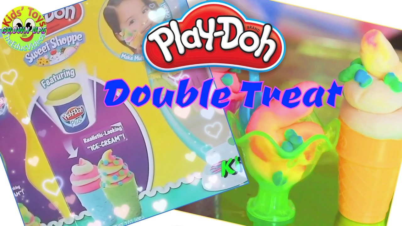 Play doh Double Treat Ice Cream Set (Throwback) - Grown Ups Kids' Toys
