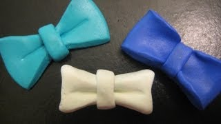 3 types of bow making using polymer clay
