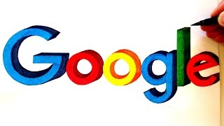 How to Draw Google Logo in 3D