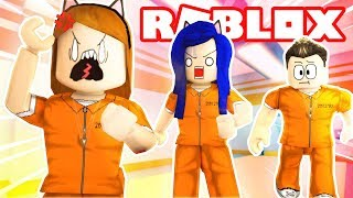 WE'RE IN PRISON!! ESCAPE THE PRISON OBBY IN ROBLOX!