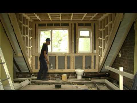 Dormer Roof Sheffield | Philip Dalton demonstrating his plans on this Dormer Roof Sheffield (inside)