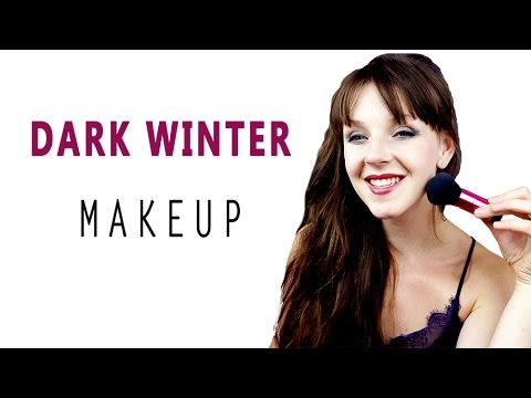 COLOR ANALYSIS  DARK WINTER MAKEUP