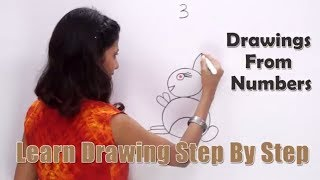 Drawing From Number 3 | How to Draw with Numbers | Fun with Numbers | Learn Drawing for Kids